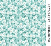 vintage floral background.... | Shutterstock .eps vector #1675471234