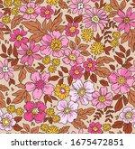elegant floral pattern in small ... | Shutterstock .eps vector #1675472851