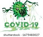Coronavirus Character Logo Wit...