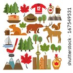 vector canada icon set | Shutterstock .eps vector #167549531