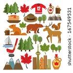 vector canada icon set | Shutterstock .eps vector #167549531