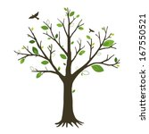 vector tree  | Shutterstock .eps vector #167550521