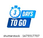 3 days to go. countdown timer....   Shutterstock .eps vector #1675517707