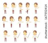 urban character set in... | Shutterstock .eps vector #167552414