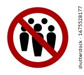 social distancing avoid crowds... | Shutterstock .eps vector #1675528177