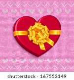 gift box   heart with bow... | Shutterstock .eps vector #167553149