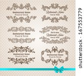 retro set of labels for... | Shutterstock .eps vector #167553779