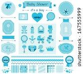 Boy Baby Shower Set Of Element...