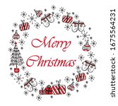 merry christmas and happy new... | Shutterstock . vector #1675564231