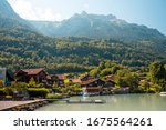 view of brienz lake with clear...   Shutterstock . vector #1675564261