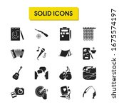 hobby icons set with cooking ...