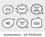 comic chat bubbles. exclusive...   Shutterstock .eps vector #1675599244