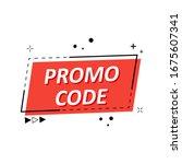promo code  coupon code. flat... | Shutterstock .eps vector #1675607341