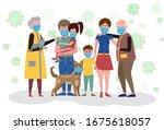 big family in medical...   Shutterstock .eps vector #1675618057