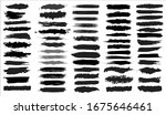 big collection of black paint ... | Shutterstock .eps vector #1675646461