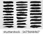 big collection of black paint ... | Shutterstock .eps vector #1675646467