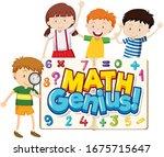 font design for word math...   Shutterstock .eps vector #1675715647