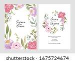 beautiful floral wedding... | Shutterstock .eps vector #1675724674
