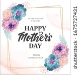 mother's day greeting card with ... | Shutterstock .eps vector #1675727431