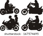 easy rider   motorcycle on the... | Shutterstock .eps vector #167574695