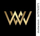 Letter WW Gold Gradient Monogram Vector Logo Design