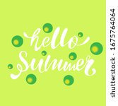 hello summer lettering for logo ... | Shutterstock .eps vector #1675764064