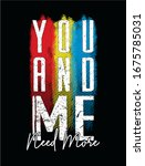you and me typography for print ... | Shutterstock .eps vector #1675785031