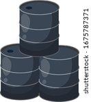 barrel of oil. combustible...   Shutterstock .eps vector #1675787371