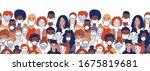 adult women men children... | Shutterstock .eps vector #1675819681