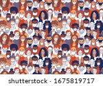 adult women men children... | Shutterstock .eps vector #1675819717
