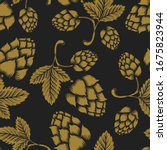 seamless pattern with vintage... | Shutterstock .eps vector #1675823944