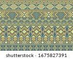 indonesian pattern tribal... | Shutterstock .eps vector #1675827391