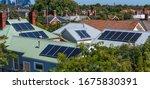 Solar Panels On Suburban House...