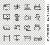 cinema line icon in flat style. ...   Shutterstock .eps vector #1675833067