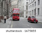 red bus and taxi | Shutterstock . vector #1675855
