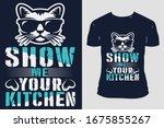 cat custom typography trendy... | Shutterstock .eps vector #1675855267