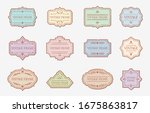 retro vintage color labels with ... | Shutterstock .eps vector #1675863817