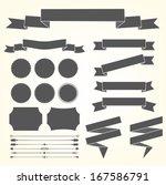 vector set of design elements   Shutterstock .eps vector #167586791