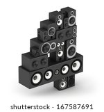 number 4 from black woods hi fi ... | Shutterstock . vector #167587691