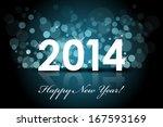 vector 2014   happy new year... | Shutterstock .eps vector #167593169
