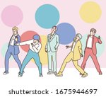 the k pop boy group on the... | Shutterstock .eps vector #1675944697