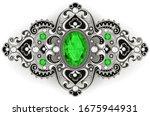 illustration silver jewelry... | Shutterstock .eps vector #1675944931