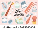 zero waste supplies for...   Shutterstock .eps vector #1675948654