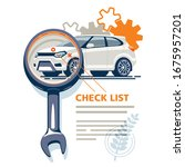 the diagnostic station detects... | Shutterstock .eps vector #1675957201