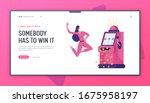 happy woman character win...   Shutterstock .eps vector #1675958197