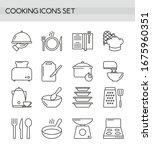 cooking accessories  kitchen... | Shutterstock .eps vector #1675960351