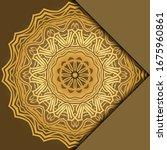 mandala background for book... | Shutterstock .eps vector #1675960861