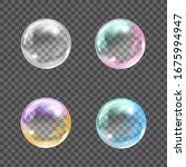 Flying Transparent Soap Bubbles ...