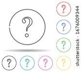 question mark multi color set...
