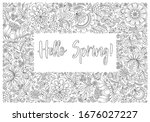 coloring book for adult and...   Shutterstock .eps vector #1676027227
